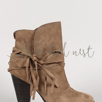 Lonesome Wrapped Ankle Boot
