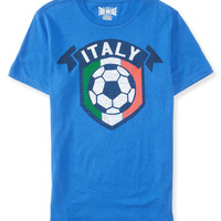 Aeropostale Mens Team Italy Soccer Graphic T-Shirt - Blue,