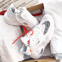 Off White x Nike Air Huarache Ultra ID Fashionable and casual sports shoes