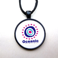 Oceanic Pendant Necklace - Lost TV Necklace, Lost TV Show, Oceanic Airlines