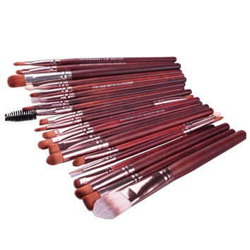 20pcs Facail Makeup Brushes Sets Professional Eyeshadow Foundation Eyeliner Lip Cosmetic Brushes Beauty Tools maquillaje 3 Color