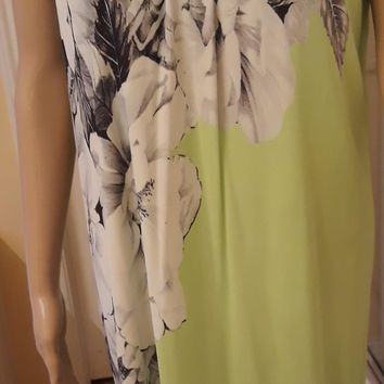 Roberto Cavalli NWT Floral Abstract Jersey Dress SZ 50