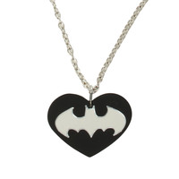 DC Comics Batman Heart Necklace