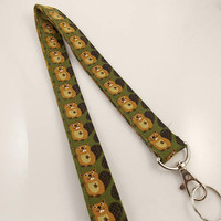 Lanyard Beavers Beaver Lanyard Teacher Lanyard Woodchuck Lanyard Nurse Lanyard Animal Lanyard Beaver Necklace Beaver Key Holder