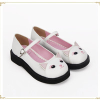 Cute Kitty Low Heels Lolita Shoes