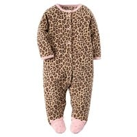 Carter's Leopard Microfleece Sleep & Play - Baby Girl, Size: