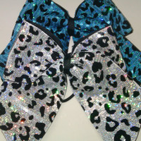 3in. Sequin Cheetah Cheer Bow