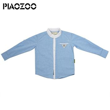 Hot Sale kids designer boy brands Children long sleeve shirts Cotton Solid korean baby boy clothes For 1-6 Years Wear P40