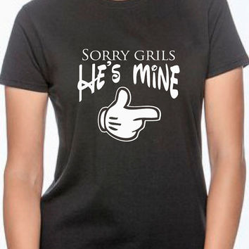 t shirts for couple. anniversary. gift for couple. wedding. gift for girlfried boyfriend. wife husband gift. marriage. he's mine she's mine
