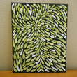 Painting Citron Green and Black Flower Aboriginal by Acires