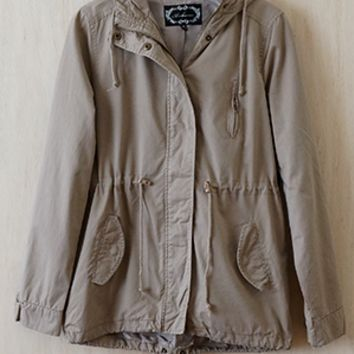 Newly Enlisted Military Jacket, Khaki - Back In Stock