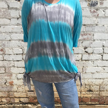 Astoria Born - Tie Dye Shark Bite Tunic