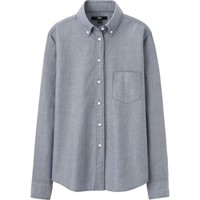 WOMEN OXFORD LONG SLEEVE SHIRT | UNIQLO