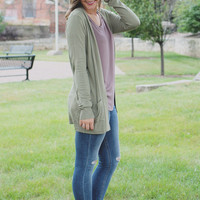 Falling Leaves Cardigan - Pistachio