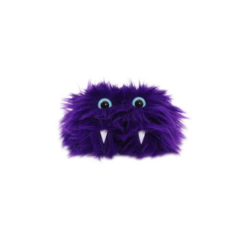 Jane the Eco-Friendly Monster - Purple furry altered Altoids tin - Kawaii