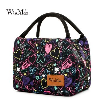 Winmax New Arrive colorful Insulated Lunch Bag Portable keep Food Safe warm Big Thermal Cooler business launch Box school