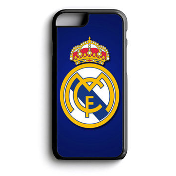 real madrid logo cover blue iPhone 4s iPhone 5 iPhone 5c iPhone 5s iPhone 6 iPhone 6s iPhone 6 Plus Case | iPod Touch 4 iPod Touch 5 Case