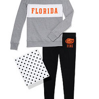 University of Florida Colorblock Crew & Legging Gift Set - PINK - Victoria's Secret