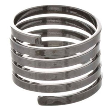 Gun Metal Spiral Knuckle Ring