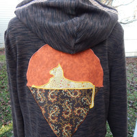 Upcycled Zip Up Hoodie Brown Grateful Dead Cats OOAK Womens  Recycled hoodie,  OOAK hoodie,hippie clothes, full zip hoodie