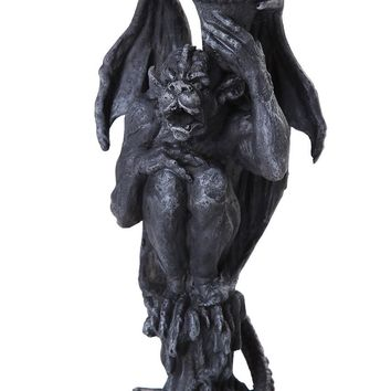 Algar the Gargoyle Candle Holder Tabletop Decor Statue 6 Inch Tall