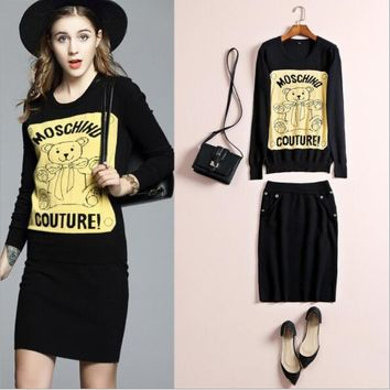 Moschino CoutureBear Long Sleeve Sweater