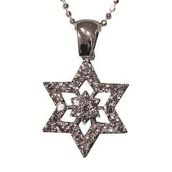 Star of David Magen David Silver Necklace