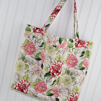 Large Market Bag, Farmers Market Bag, Washable Tote Bag, Beach Bag, Reusable Grocery Bag, MK126