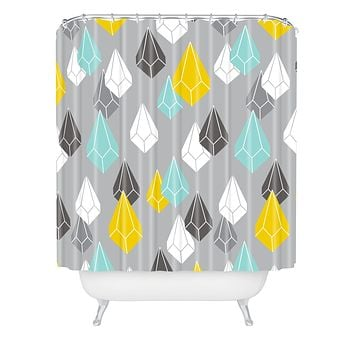 Heather Dutton Raining Gems Whisper Shower Curtain