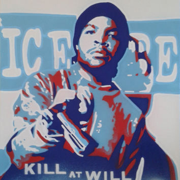 3 DIGITAL DOWNLOADS of  original paintings,Ice Cube,Ice T,Krs One,stencil art,spray paint,hip hop,rap,pop,urban,street art,abstract graffiti