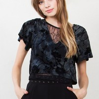 Enchanted Forest Velvet Top*
