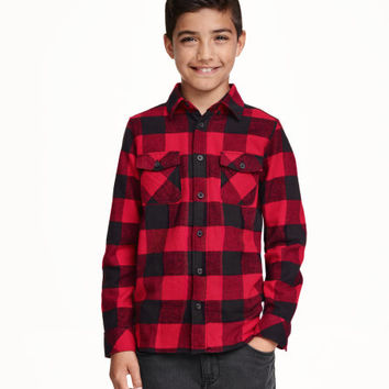 Checked flannel shirt - from H&M