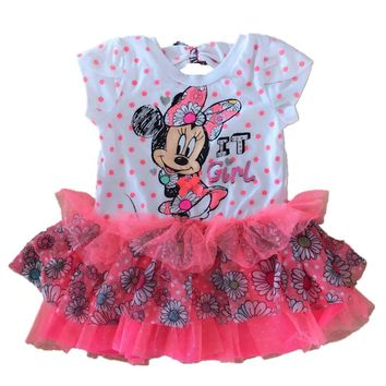 18M Baby Girls Dresses Minnie Mouse Dress Minnie Dots Dress Cute Clothing for Summer