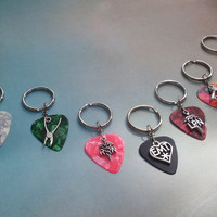 Key Chain Profession Trade, 16 Colors Guitar Pick Available, Rn Lpn Nurse, Emt, Hair Stylist, Plumber, Carpenter, Home Builder, DIY,