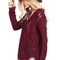 Shag Cut Knit Sweater | Knit Sweaters at Pinkice.com