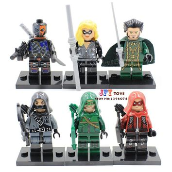 Single Sale superhero Green Arrow deathstroke dark Arrow black canary building blocks bricks toys for children brinquedos menino