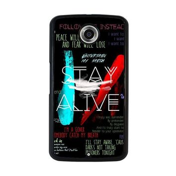 twenty one pilots stay alive nexus 6 case cover  number 1