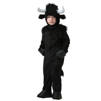 Halloween Jumpsuit Baby Dress Cosplay Bull Fancy Party Costume for Children Boy Girl