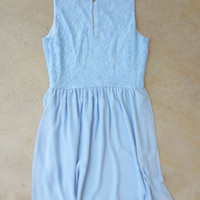 Periwinkle Junebug Dress [6932] - $36.00 : Feminine, Bohemian, & Vintage Inspired Clothing at Affordable Prices, deloom