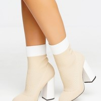 Step Up Bootie - Nude
