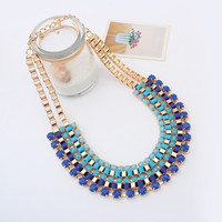 New Arrival Shiny Jewelry Gift Stylish Gradient Metal Necklace [6586303495]