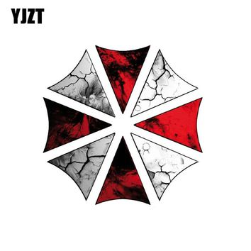 YJZT 13CM*13CM Car Sticker Reflective Evil OFFICIAL RESIDENT EVIL UMBRELLA CORPORATION SYMBOL GREY Car Window Decal C1-7524