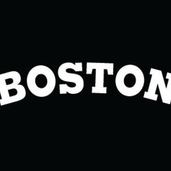 boston on american apparel t-shirt - 3 styles, 7 colors