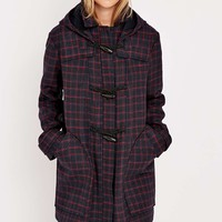 Urban Outfitters Duffle Check Coat - Urban Outfitters