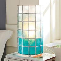 Faceted Capiz Table Lamp