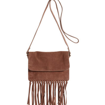 Suede Shoulder Bag - from H&M