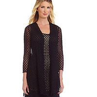 IC Collection Lace Dress Jacket - Black