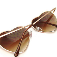 Metal Heart-Shaped Personalized Retro Sunglasses A 091220