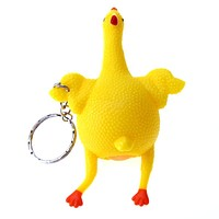 1 Piece Novelty Tricky Funny Gadgets Toys Squeeze Chicken Egg Laying Hens Stress Relief Trick Toys For Baby Adult