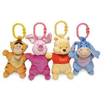 Winnie the Pooh Attachable Mini Plush Toy (Colors/Styles Vary)